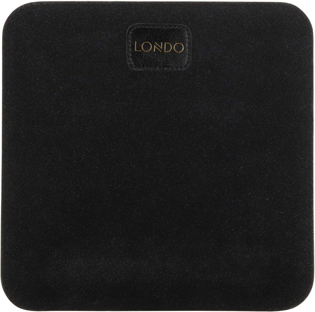 Londo Genuine Leather Mouse pad with Wrist Rest Black