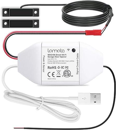 Smart Wi-Fi Garage Door Opener Remote,Lomota Smart Home Devices Work