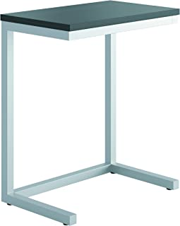 product image for Hon Basyx HML8858P Occasional Cantilever Table 9.8 D x 17.5 W x 20.75 H-Inch, Black/Silver