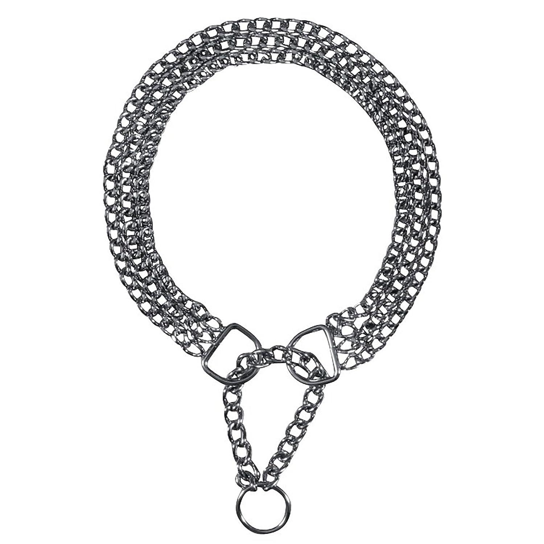 Trixie Collier étrangleur, 3 rangs avec sécurité, 45 cm/2,5 mm, pour chien 4011905022659