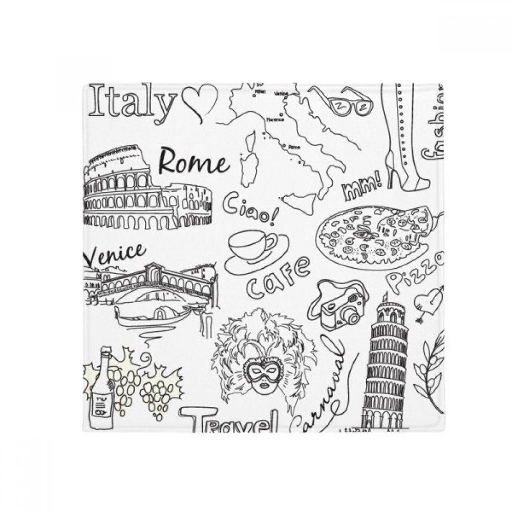 DIYthinker  Landscape Famous Travel Sketch Anti-Slip Floor Pet Mat Square Home Kitchen Door 80Cm Gift