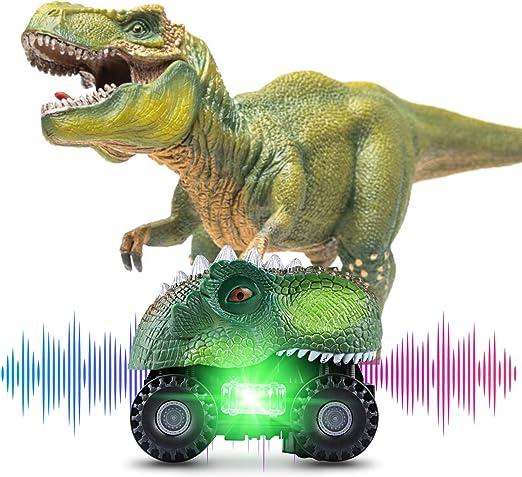 Vimzone Dinosaurier Autos für Kinder, Dinosaurier Autos