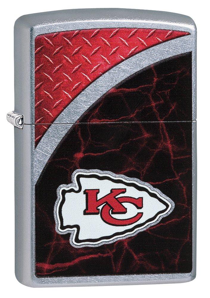 Zippo NFL Kansas City Chiefs Street Chrome Pocket Lighter by Zippo