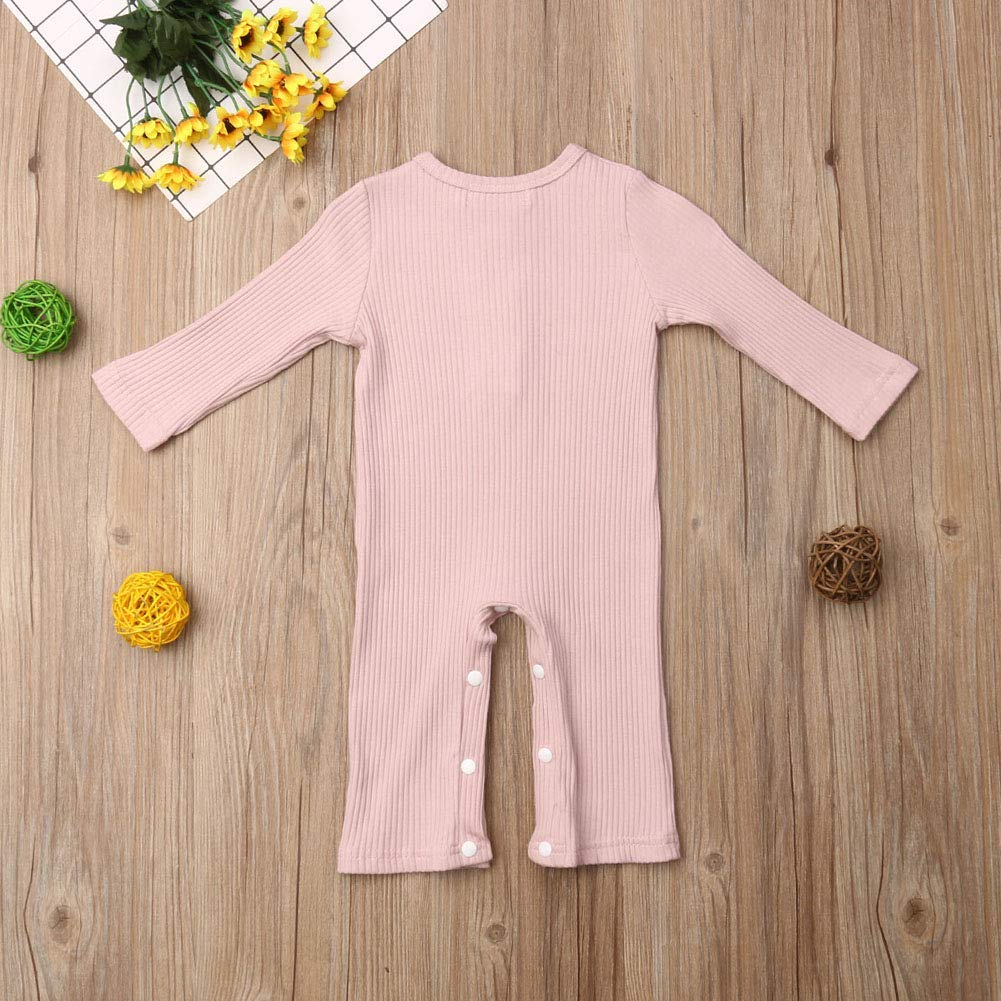 preetyyou Newborn Infant Baby Girls Boys Overall Romper Jumpsuit Sleeveless Striped Pocket Bodysuit Sunsuit Outfit Clothes