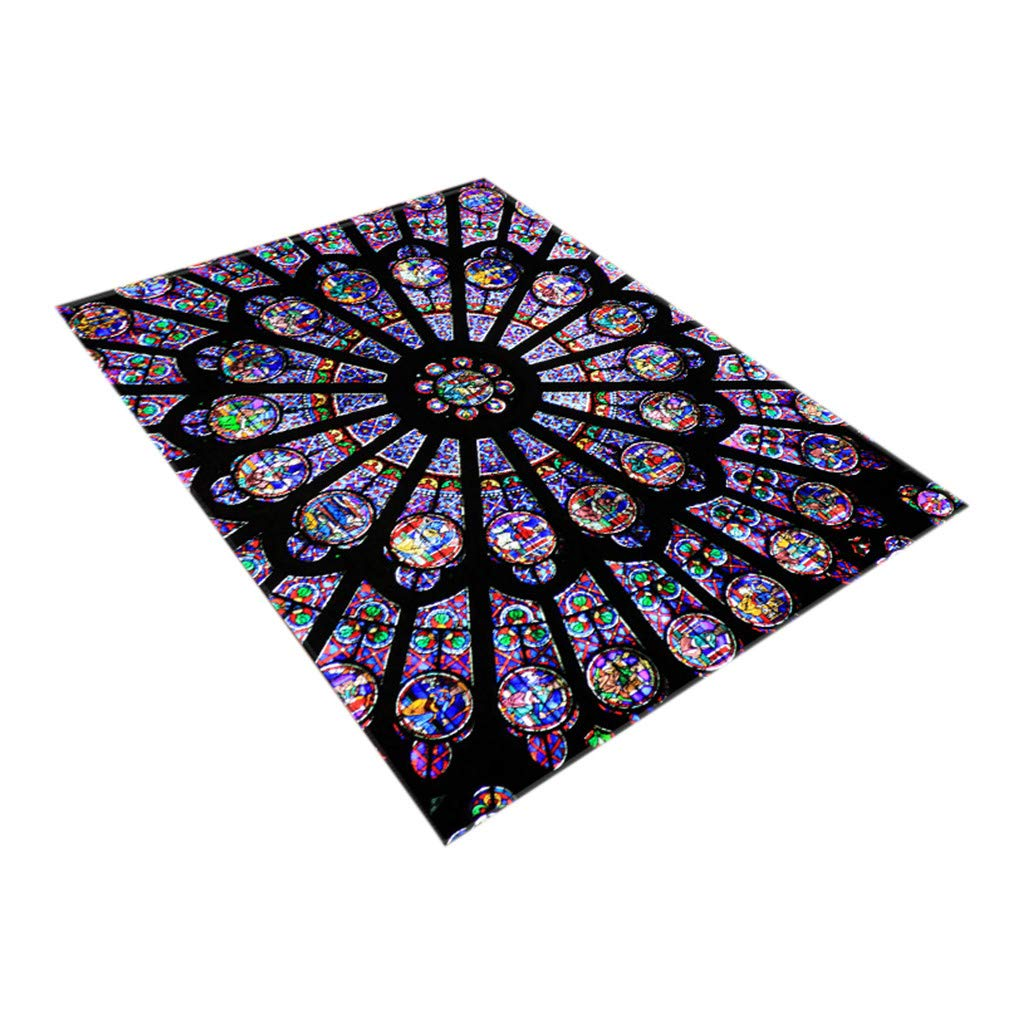 XIANAER Bedroom Area Rugs Comfortable Non-Slip Floor Mat Living Room Corridor Church Printing Element Carpet Home Decor Washable by XIANAER