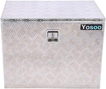 Caja de Herramientas de Aleación de Aluminio para Camión Remolque Caja de Almacenamiento de Herramientas de Placa Llave Inglesa: Amazon.es: Bricolaje y herramientas