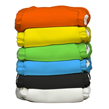 10Reusable Insert 5Layer Bamboo Fiber Charcoal Washable Cloth Nappies Diaper Lot