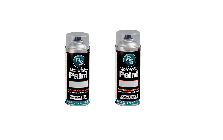 RS Bike Paint Aerosol de pintura color azul marino nacarado para Suzuki YBA (aerosol de lacado tambié n incluido), 400 ml, 2 unidades 400ml