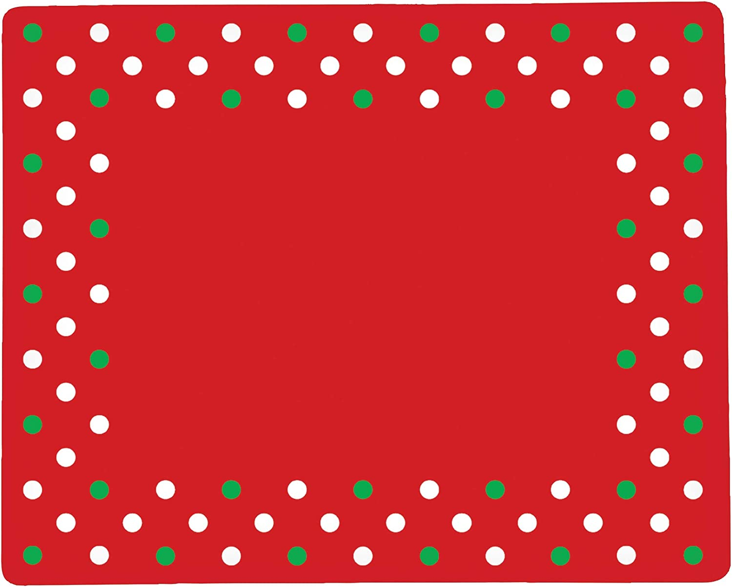 C&F Home Xmas Polka Dots 12.75'' x 16'' Hardboard Placemat Set of 6 Wooden Christmas Holiday Winter Table Mat for Kitchen Dining Table Placemat Set of 6 Red