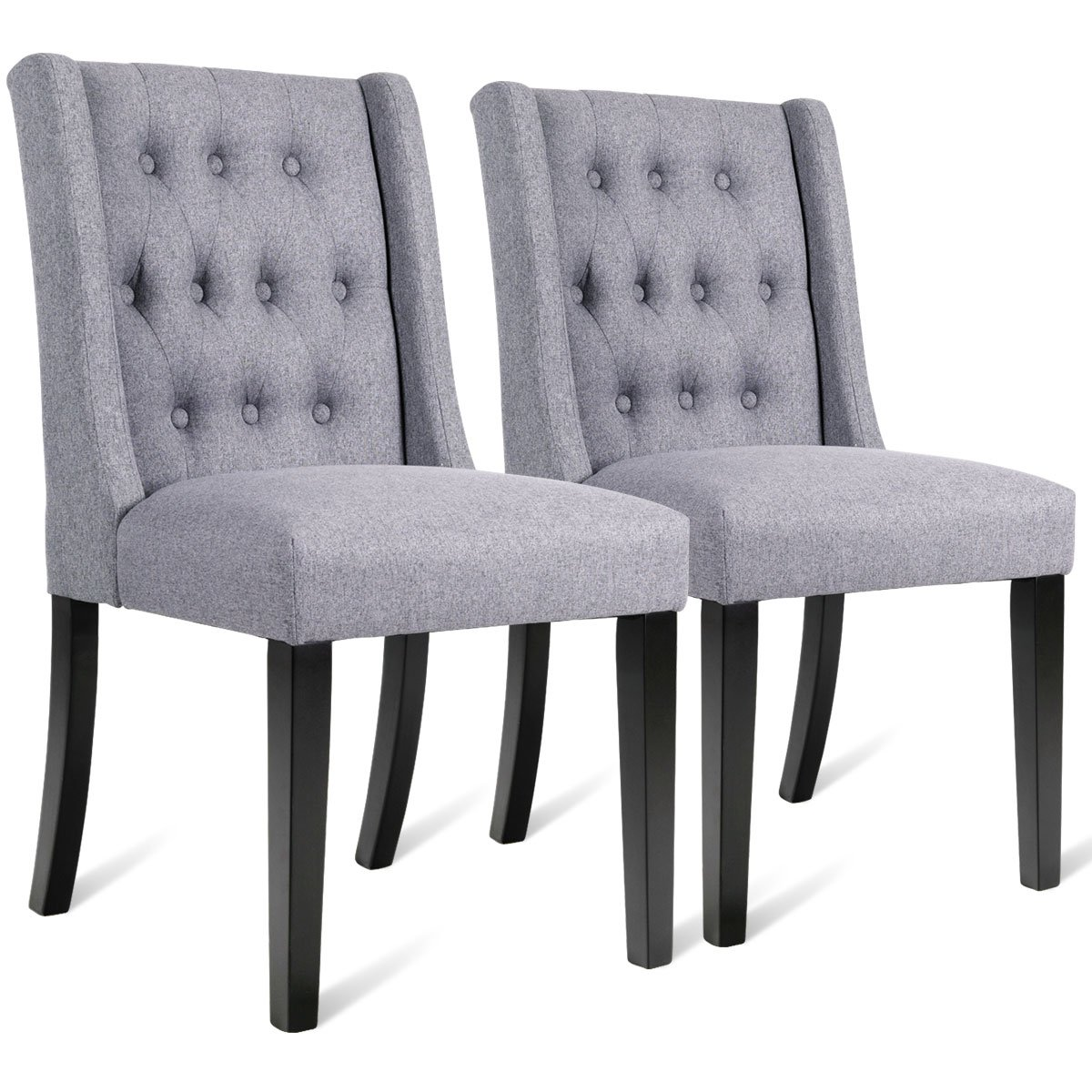Amazon Com Giantex Set Of 2 Dining Chairs Modern Side Chairs