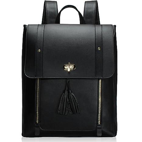 6af1185795d ESTARER Womens Backpack Purse PU Leather Rucksack Fit 14-inch Laptop School  Bag Daypack