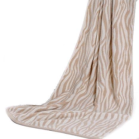sellerway grande baño toalla cebra rayas algodón Toallas de fitness de secado rápido