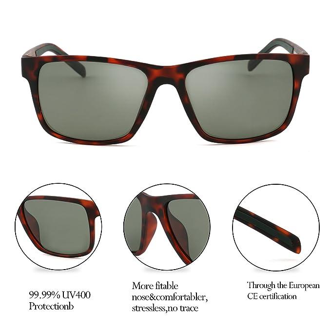 Gafas de sol clásicas, Shinetime Gafas de sol Wayfarer polarizadas clásicas conducción pesca protección UV400 para Men TR-90 Frame