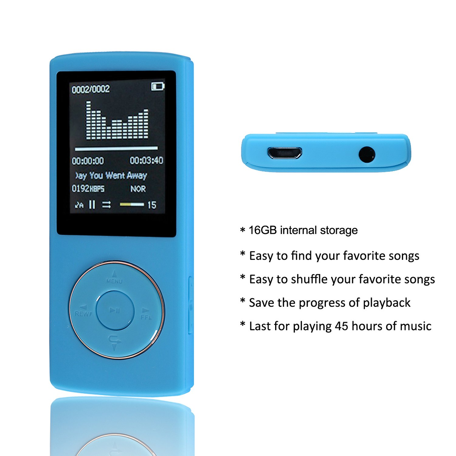 HccToo Music Player 16GB Portable Lossless Sound MP3: Amazon.co.uk:  Electronics