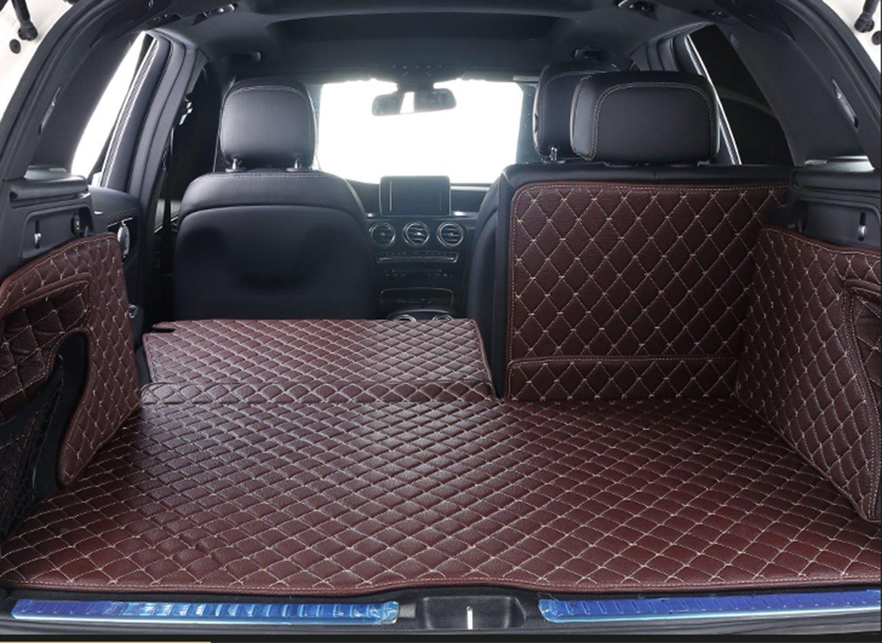 Worth-Mats 3D Full Coverage Waterproof Car Trunk Mat For Mercedes GLC200 GLC260 GLC300 Class-Beige