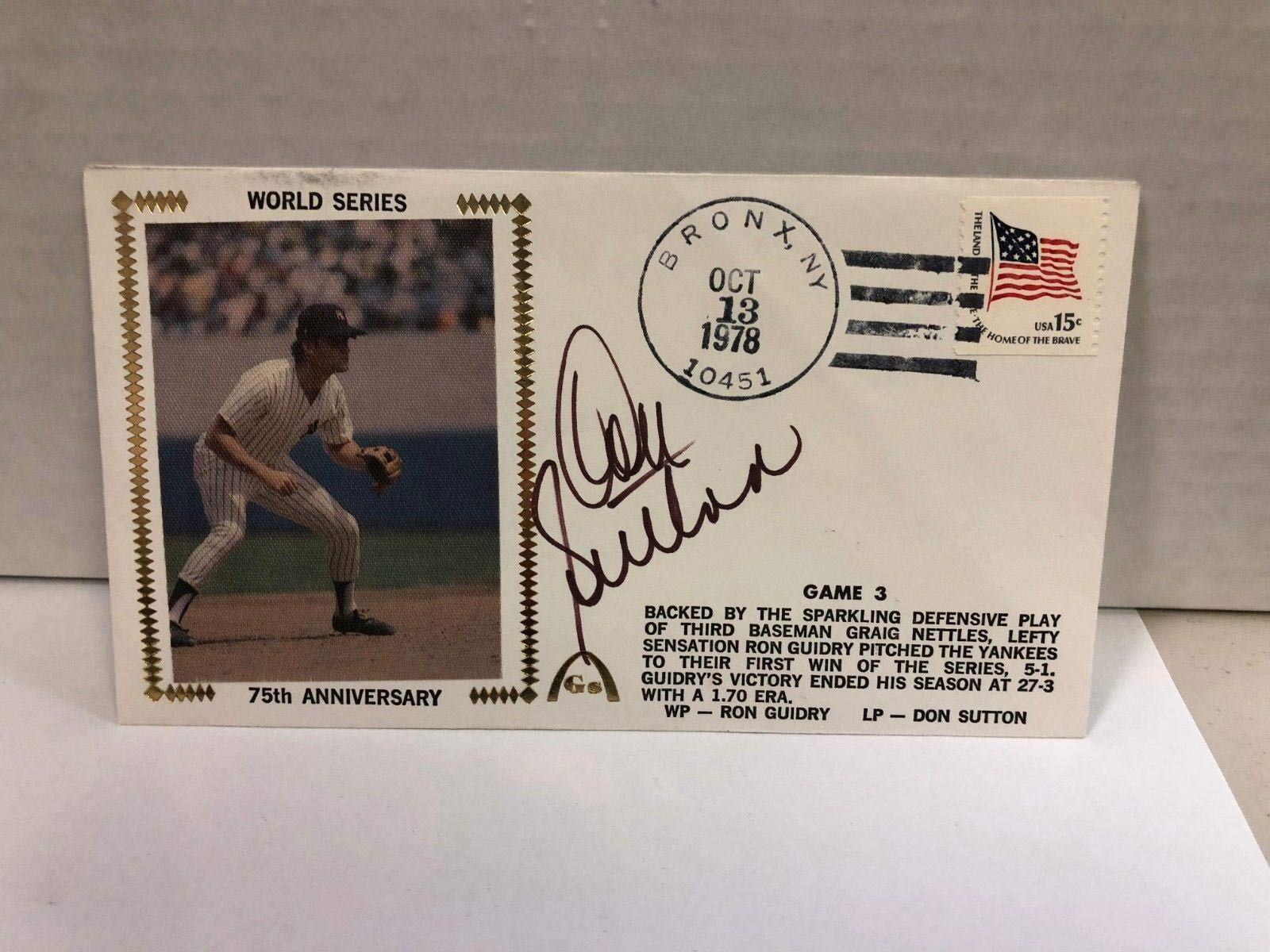 Don Sutton Autographed Signed Original Silk Cachet First Day Issue COA JSA Certified MLB Cut Signatures