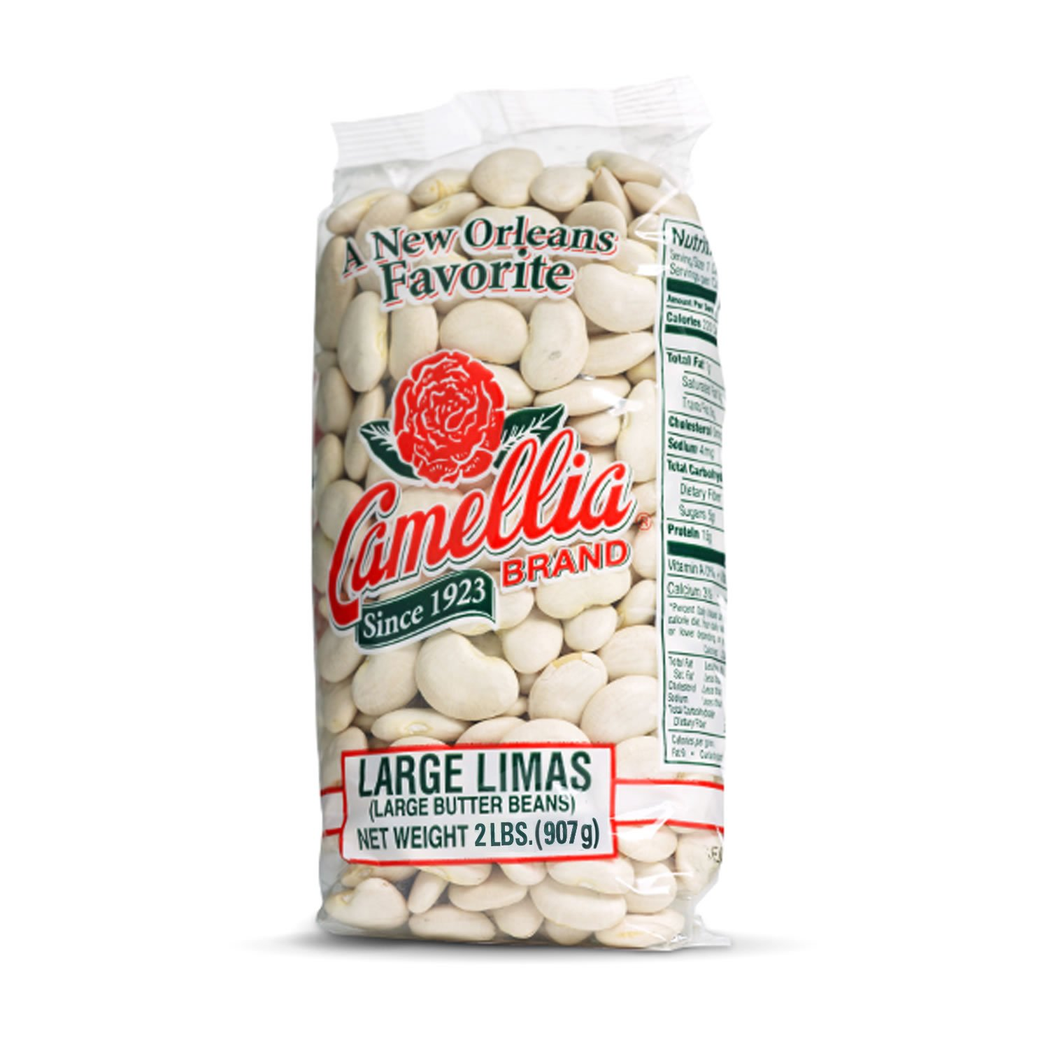 Camellia Brand Large Lima Beans 2 Pounds