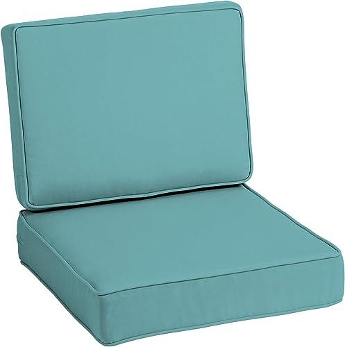 Cheap Arden Selections ProFoam EverTru Acrylic 24 x 24 x 6 Inch Outdoor Deep Seat Cushion Set outdoor chair cushion for sale