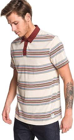 Quiksilver - Camisa Polo de Manga Corta - Hombre - XS - Beige: Amazon.es: Ropa y accesorios