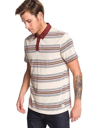 Quiksilver - Camisa Polo de Manga Corta - Hombre - XS - Beige ...