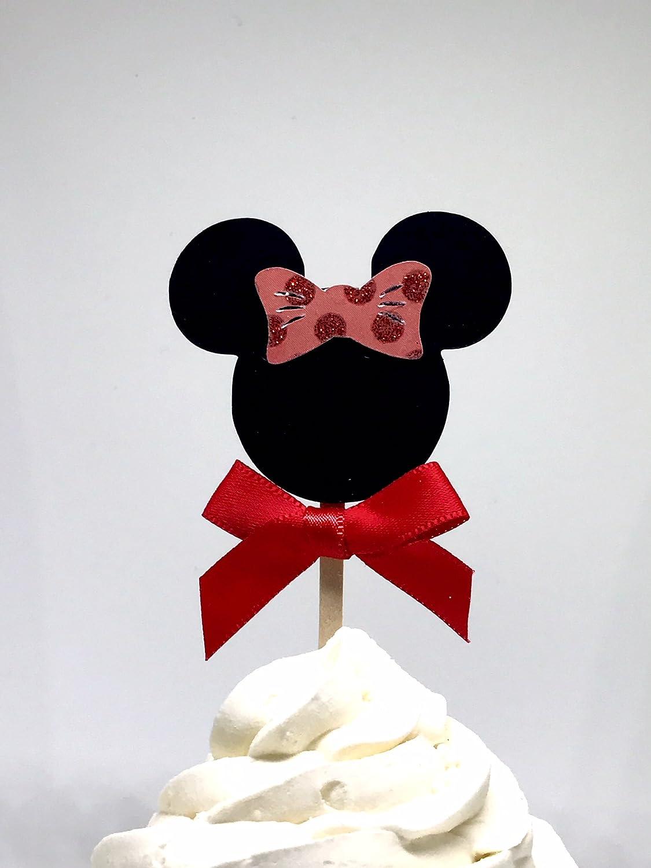 Peachy Amazon Com Minnie Cupcake Toppers Minnie Cupcake Topper Minnie Funny Birthday Cards Online Necthendildamsfinfo