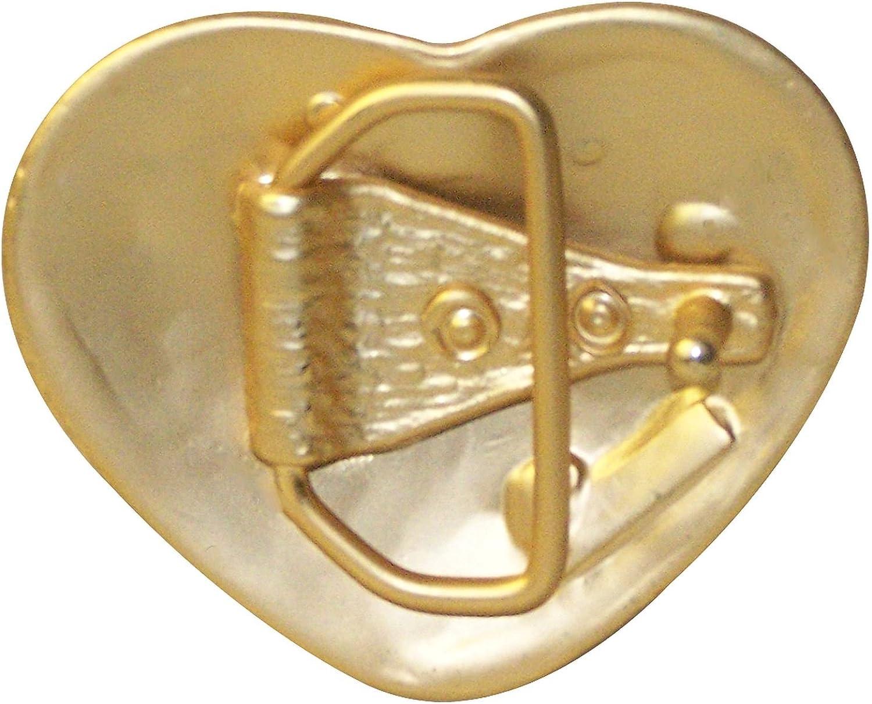 Herz 18333 FRONHOFER G/ürtelschnalle gold 4 cm Damen Strass Koppelschnalle