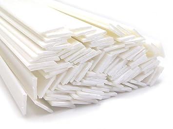 Alambre de soldadura de plástico ABS 8x2mm Plano Blanco 25 barra: Amazon.es: Coche y moto