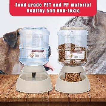 Dispensador de Comida de Mascotas, 3.75L Alimentador Automático Fuente de Agua Desmontable, Máquina