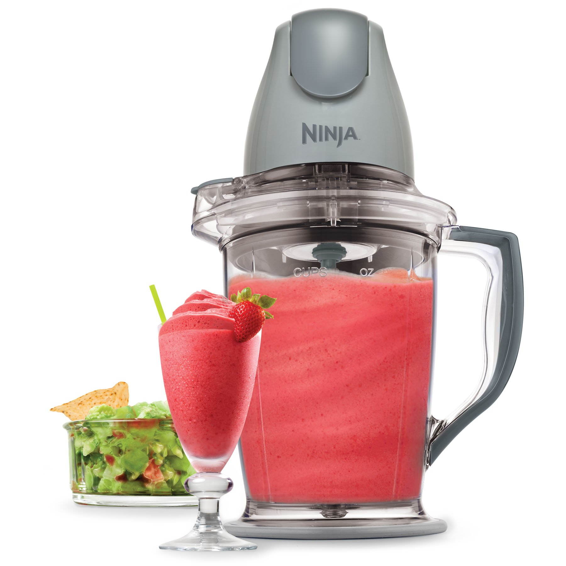 Ninja 400-Watt Blender/Food Processor for Frozen Blending, Chopping and Food Prep with 48-Ounce Pitcher and 16-Ounce Chopper Bowl (QB900B), Silver by SharkNinja (Image #4)