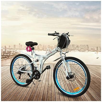 GTYW - Bicicleta eléctrica plegable para bicicleta de montaña, bicicleta de adultos, bicicleta eléctrica