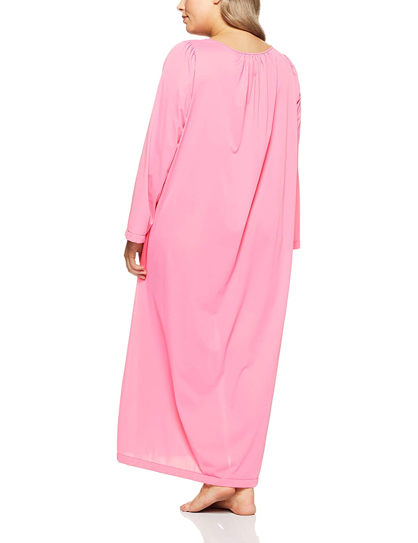 Shadowline Womens Plus-Size Petals 53 Inch Sleeve Long Gown Shadowline Sleepwear 19829