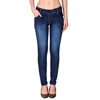KETEX Women's Blue Slim Jeans