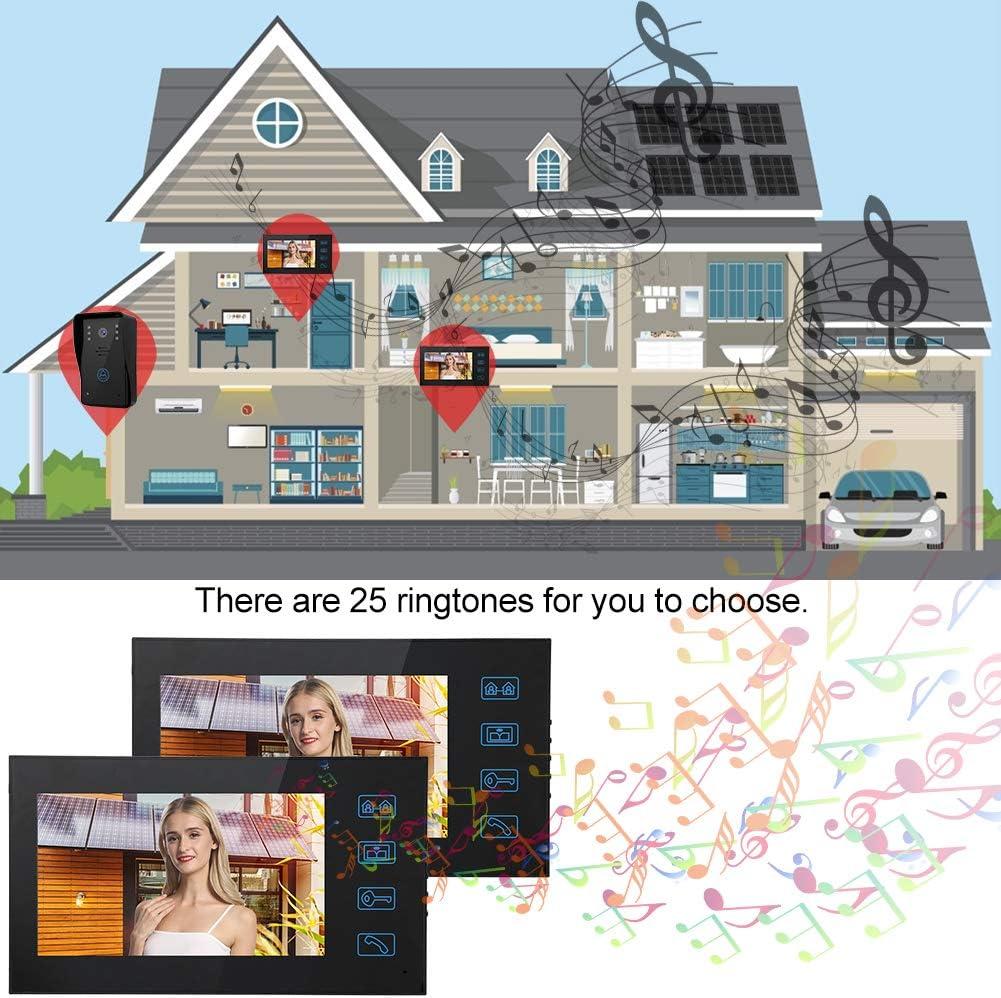 UE 2 Unidades Apartamento 7in Videoportero a Prueba de Agua Tel/éfono Timbre Intercomunicador Soporte para Portero autom/ático Visi/ón Caredy Kit de Tel/éfono con Timbre Intercomunicador