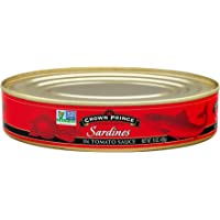 Crown Prince Sardines in Tomato Sauce, 15-Ounce Cans (Pack of 12)