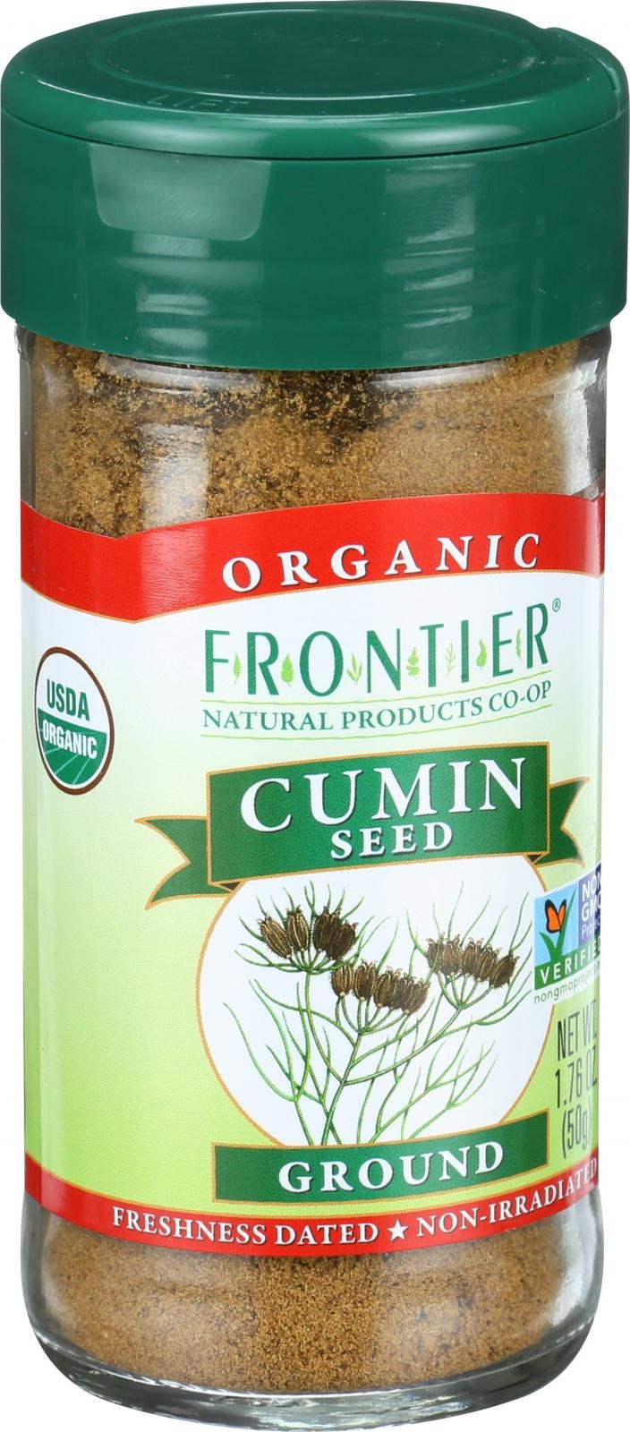 Frontier Herb Cumin Seed - Organic - Ground - Kosher - 1.76 oz