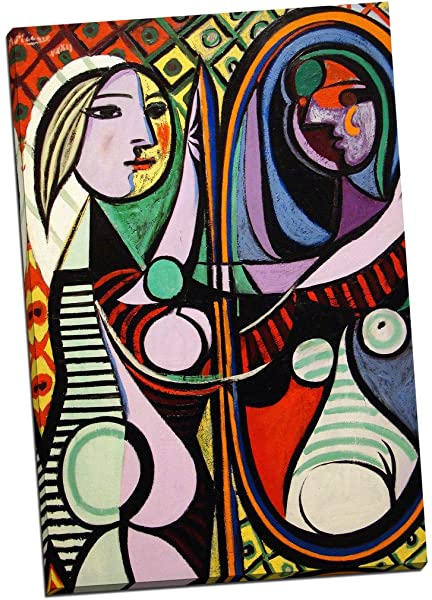 "30W/""x38H/"" GIRL BEFORE A MIRROR by PABLO PICASSO PREGNANT WOMAN REFLECTION CANVAS"
