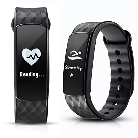 Smart Bracelet, AGPtEK Smart Fitness Trakcer Sports Bracelet Activity Tracker Heart Rate Fitness Health IP67 Waterproof Smartwatch Wristband Bluetooth ...