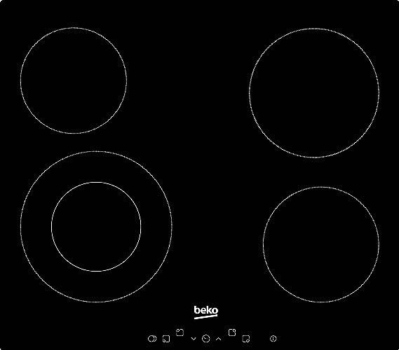 BEKO HIC64402T - Table de cuisson vitrocéramique - 4 zones ...