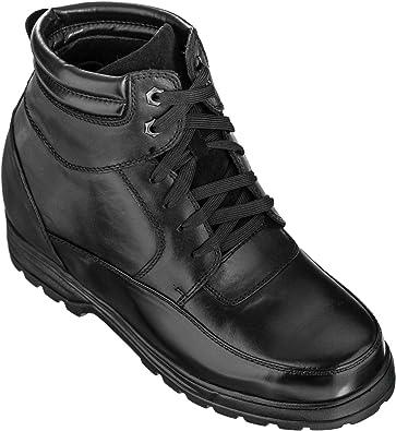 Calden Bottes en Cuir pour Homme: : Chaussures et Sacs