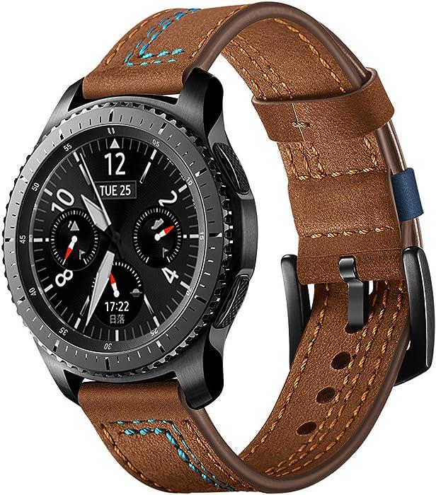 Hombre Mujer Reloj Correa para La Correa De La MuñEca del Reloj De Reemplazo para El Reloj Inteligente Samsung Gear S3 De 22 Mm (A)