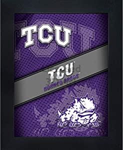TCU Horned Frogs 3D Poster Wall Art Decor Framed Print | 14.5x18.5 | Lenticular Posters & Pictures | Gifts for Guys & Girls College Dorm Room & Bedroom | NCAA Super Frog Team Fan Logo & Mascot