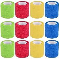 Vendaje cohesivo,12 Vendajes Elásticos Adhesivos Adhesivos Para Camuflaje