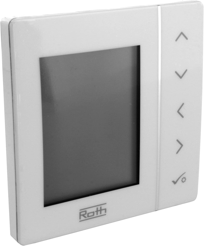 Roth Basicline T 1135007436 Termostato programable para habitación, 230 V: Amazon.es: Bricolaje y herramientas
