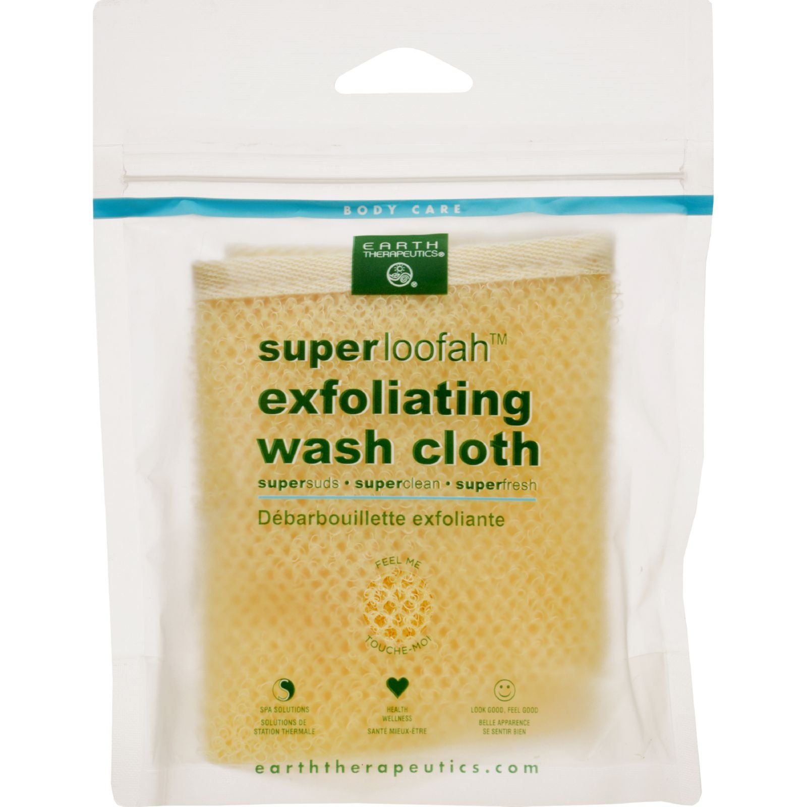 Earth Therapeutics Loofah - Super - Exfoliating - Wash Cloth - 1 Count (Pack of 4) by Earth Therapeutics