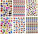 Fish007 - 6 Sheets of Scrapbook Fish Stickers, Fish Scrapbook Stickers, Small Fish Stickers, Reflective Stickers - Animal Stickers for Kids - Size 4 X 5.25'/sheet (Clownfish, Whale etc.)