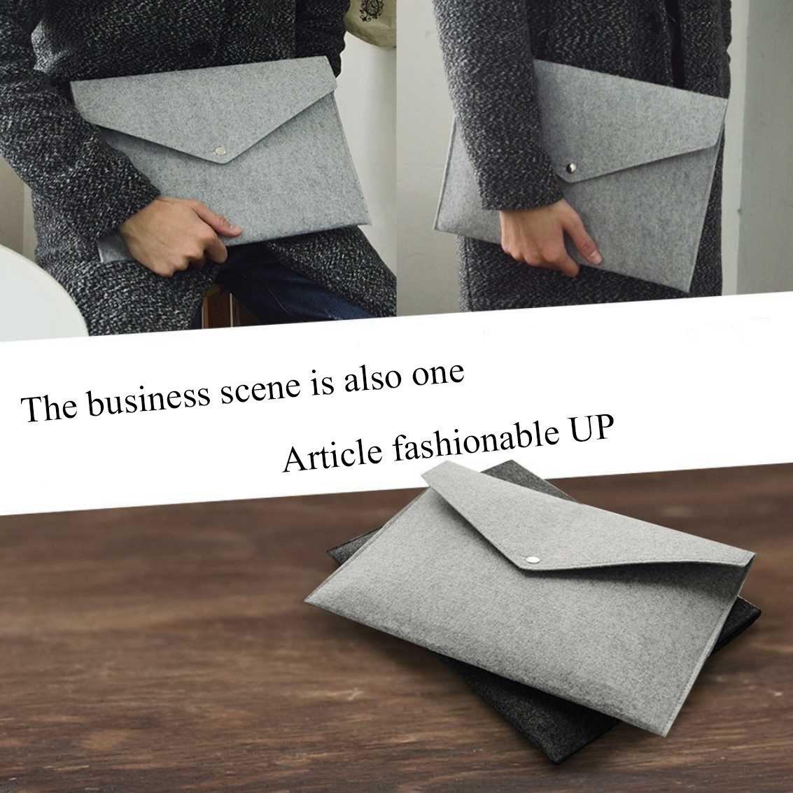 AIUIN - Carpetas de fieltro A4 de alta calidad con botón de metal, para oficina, escuela y organización (2 unidades): Amazon.es: Oficina y papelería