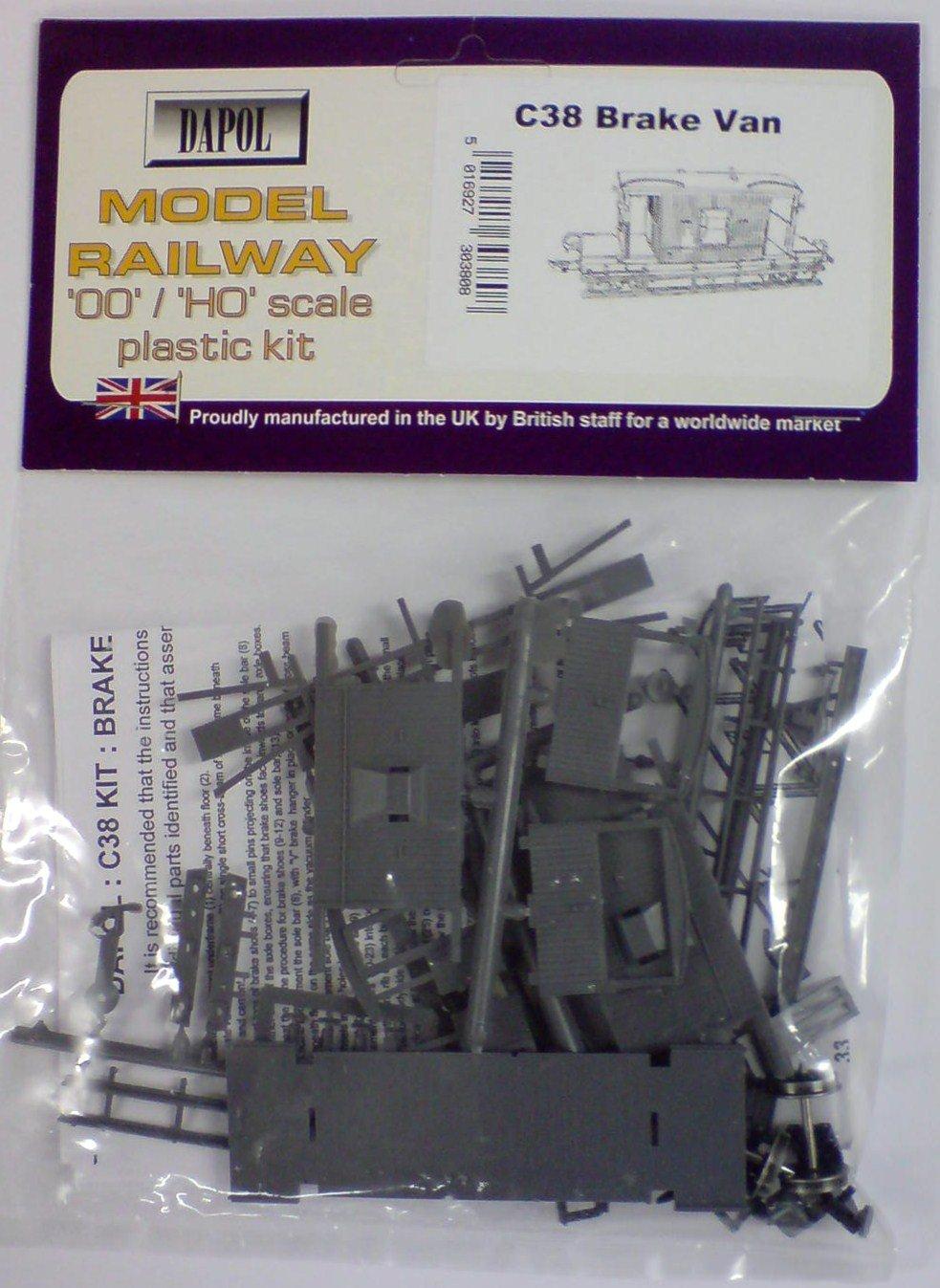 Dapol C38 OO/HO British Railways Brake Van Plastic Kit C038
