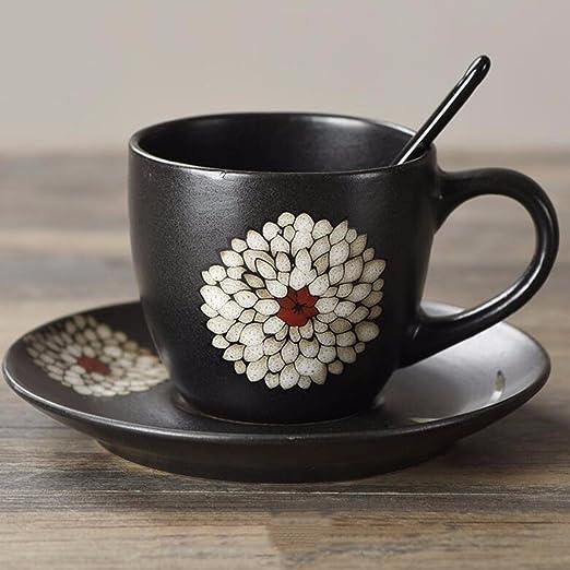 QMPZG-tazas de café tazas de café Japanese Style Black Ceramic ...