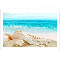 IKALL N10 Dual Sim 4G Calling Tablet with 10.1 inch Display (2GB + 16GB, White-Gold)