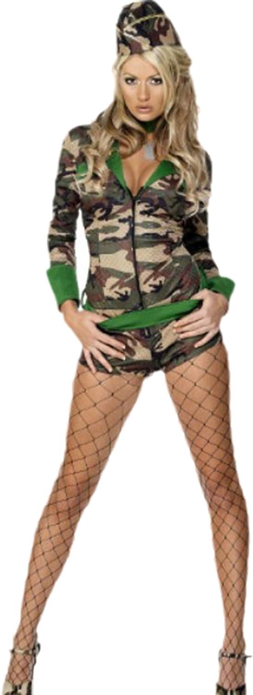 erdbeerloft – Mujer Disfraz Militar, Carnaval, XS de m, Multicolor ...